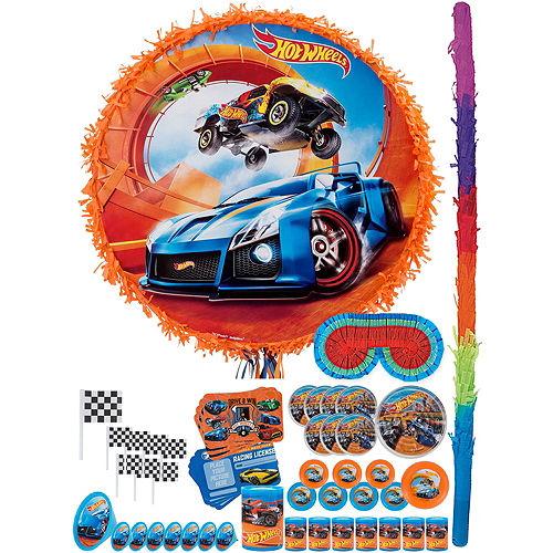 Orange Hot Wheels Pinata Kit with Favors Image #1