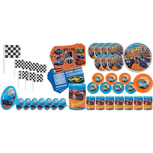 Orange Hot Wheels Pinata Kit with Favors Image #4