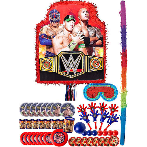 Red WWE Pinata Kit with Favors Image #1
