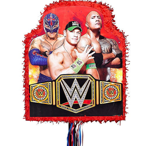 Red WWE Pinata Kit with Favors Image #5