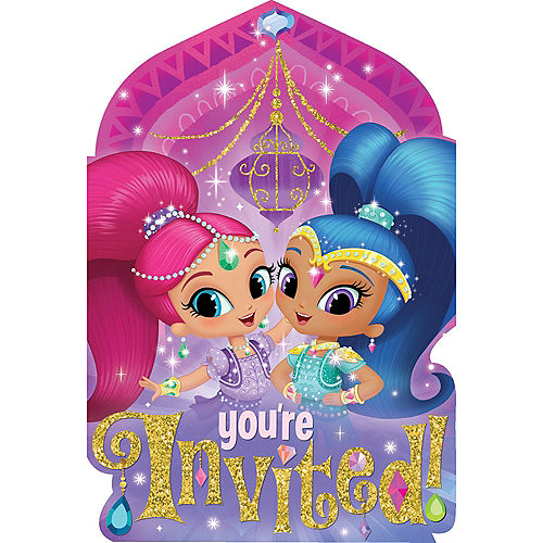 Shimmer and Shine Invitations 8ct Image #1