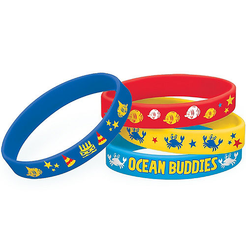 Under the Sea Birthday Wristbands 4ct Image #1