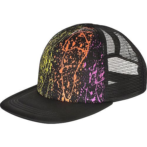 Black Light Neon Baseball Hat Image #1
