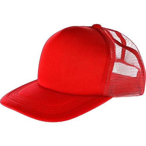 Red Baseball Hat Image #1