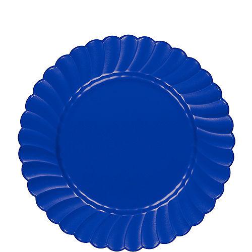 Royal Blue Premium Plastic Scalloped Lunch Plates 12ct Image #1