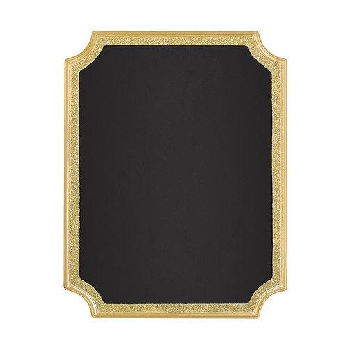 Glitter Gold Border Chalkboard Sign Image #1