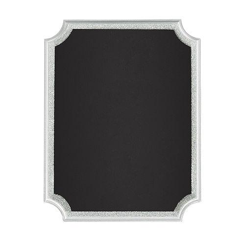 Glitter Silver Border Chalkboard Sign Image #1