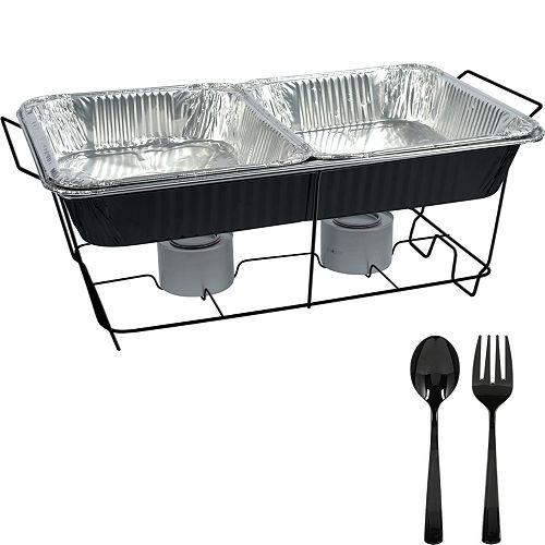 Black Chafing Dish Buffet Set 8pc Image #1