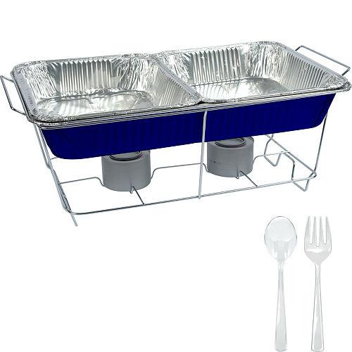 Royal Blue Chafing Dish Buffet Set 8pc Image #1