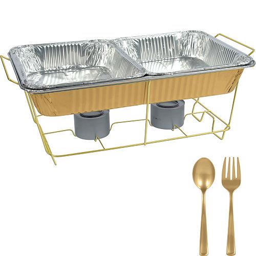 Gold Chafing Dish Buffet Set 8pc Image #1