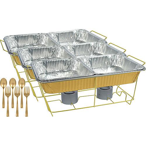Gold Chafing Dish Buffet Set 24pc Image #1