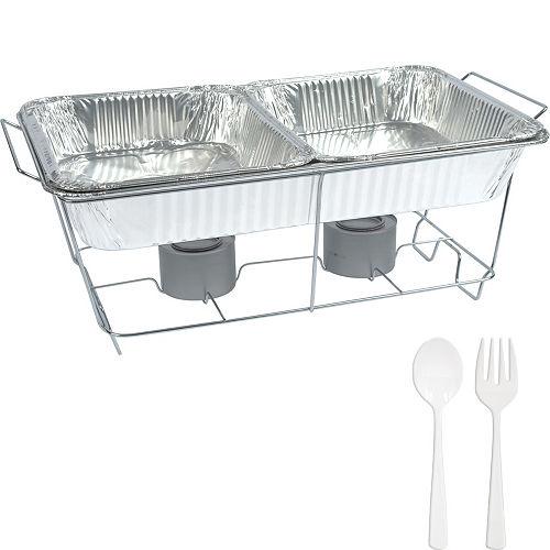 White Chafing Dish Buffet Set 8pc Image #1