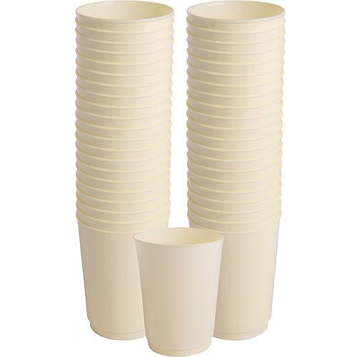 Big Party Pack Vanilla Cream Plastic Cups 72ct Image #1