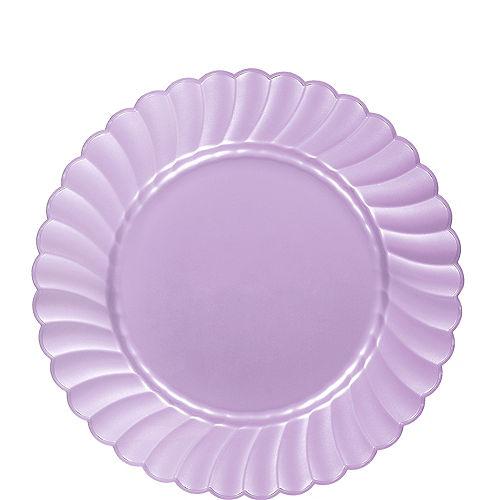 Lavender Premium Plastic Scalloped Lunch Plates 12ct Image #1