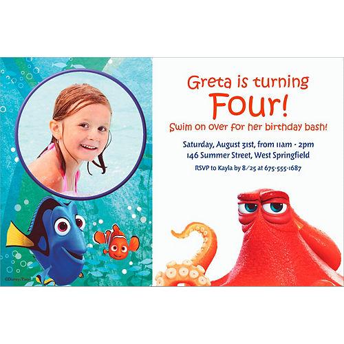 Custom Finding Dory Photo Invitation Image #1