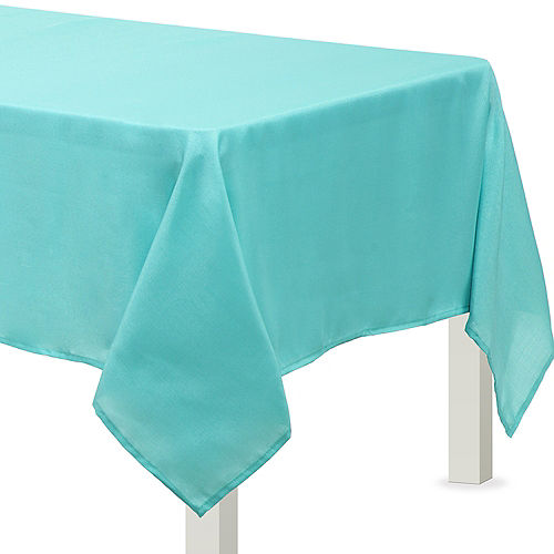 Robin's Egg Blue Fabric Tablecloth Image #1