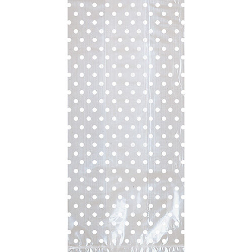 White Polka Dot Treat Bags with Bows 12ct Image #2