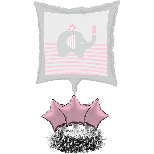 Pink Baby Elephant Balloon Centerpiece Kit Image #1