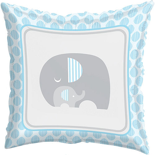 Blue Baby Elephant Balloon, 18in Image #1