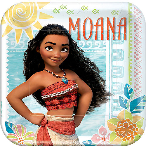 Moana Lunch Plates 8ct Image #1