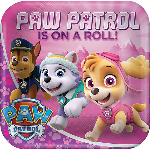 Pink PAW Patrol Lunch Plates 8ct Image #1