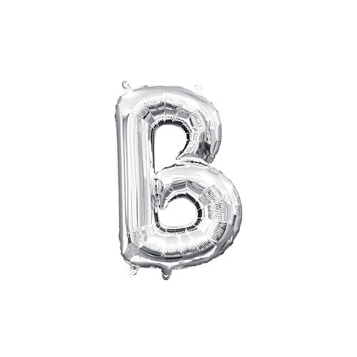13in Air-Filled Silver Letter Balloon (B) Image #1