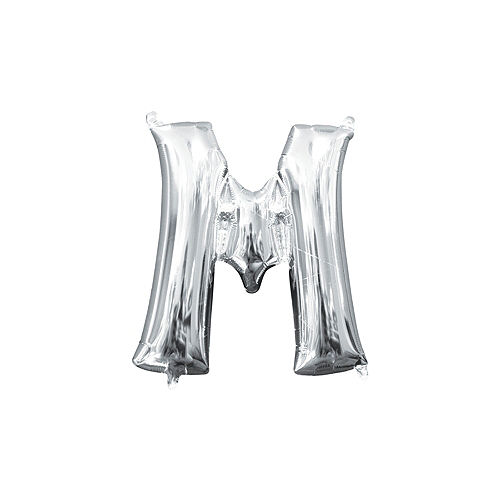 13in Air-Filled Silver Letter Balloon (M) Image #1