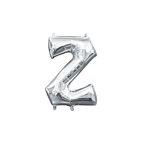 13in Air-Filled Silver Letter Balloon (Z) Image #1