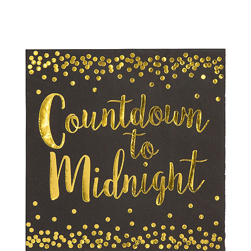 Countdown to Midnight Lunch Napkins 16ct Image #1