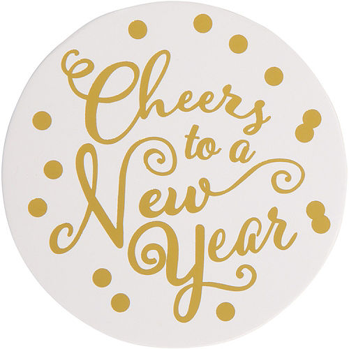 Cheers to a New Year Coasters 18ct Image #1