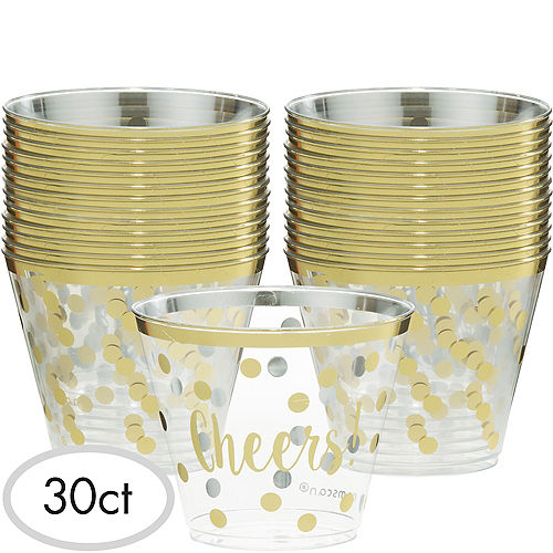 Cheers to a New Year Plastic Tumblers 30ct Image #1