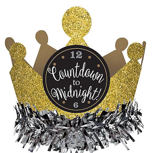 Black, Gold & Silver Mini Glitter Crown Image #2