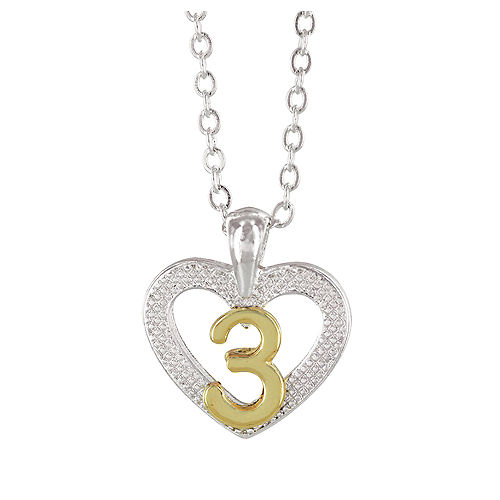 3rd Birthday Heart Pendant Necklace with Case Image #1