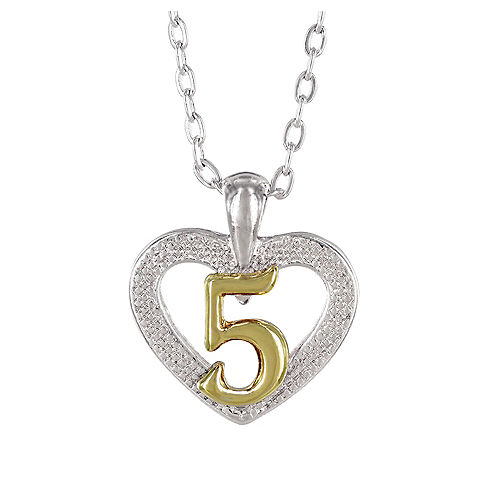 5th Birthday Heart Pendant Necklace with Case Image #1