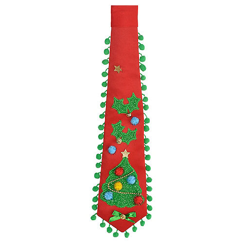 Red Christmas Tree Tie Image #1