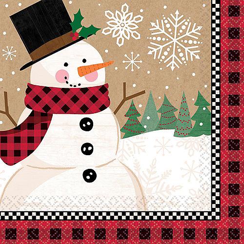 Winter Wonder Snowman Dinner Napkins 16ct Image #1