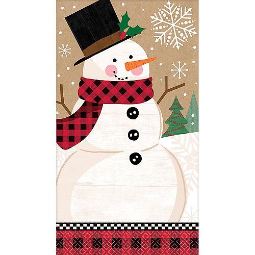 Winter Wonder Snowman Guest Towels 16ct Image #1