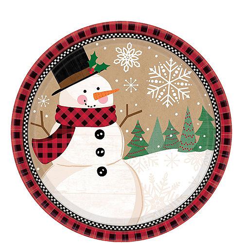 Winter Wonder Snowman Dessert Plates 8ct Image #1