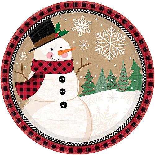 Winter Wonder Snowman Dinner Plates 8ct Image #1