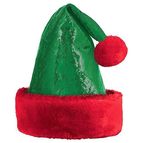 Sequin Green Santa Hat Image #1