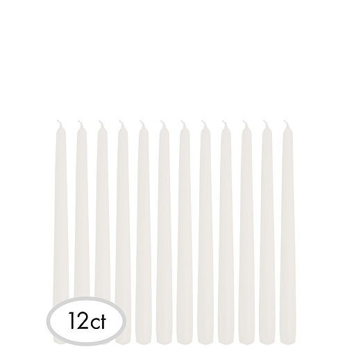 White Taper Candles 12ct Image #1