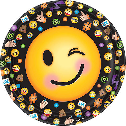 Smiley Lunch Plates 8ct Image #1