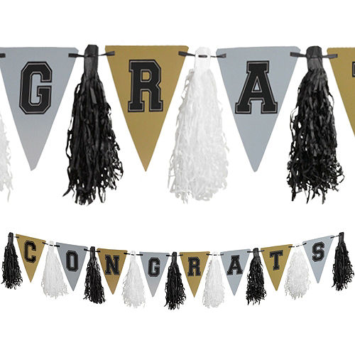 Black, Gold & Silver Graduation Gift Table & Sign In Kit Image #5