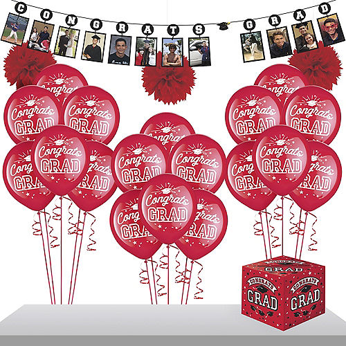 Red Graduation Gift Table & Sign In Kit Image #1
