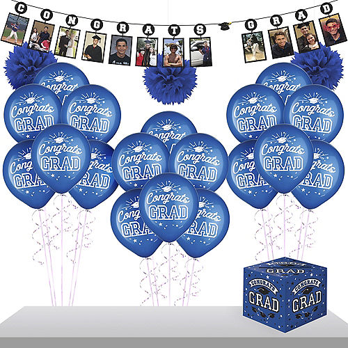 Blue Graduation Gift Table & Sign In Kit Image #1