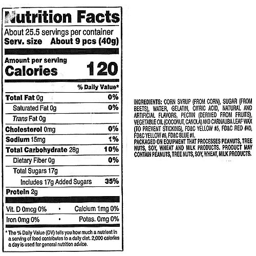 12 Flavor Mini Gummi Bears 275pc Image #2