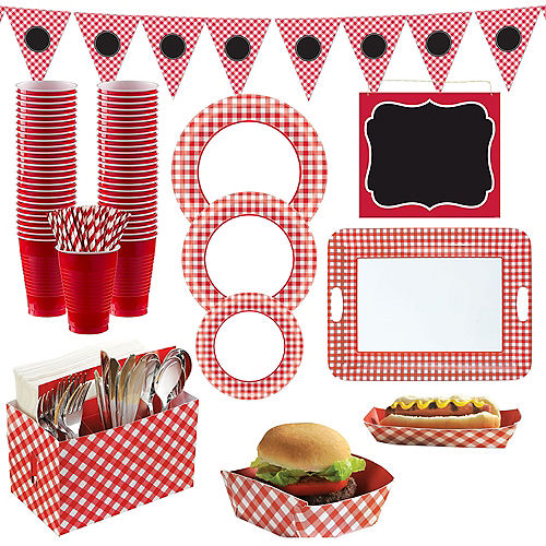 Gingham BBQ Party Kit Image #1