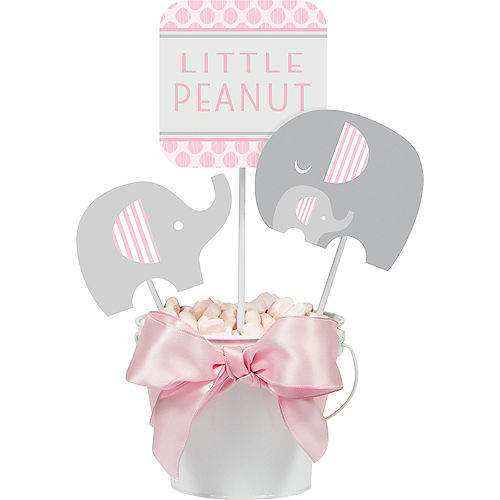 Pink Baby Elephant Centerpiece Sticks 3ct Image #1