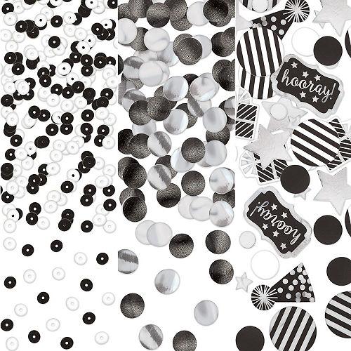 Black & White Birthday Confetti Image #1