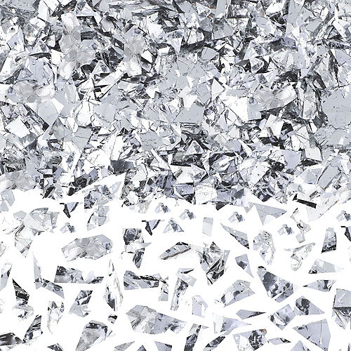 Silver Sparkle Confetti Image #1